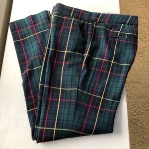 Tommy Hilfiger skinny leg plaid pants